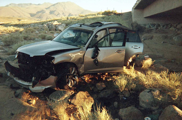 bruce sallan accident 2005 rescued by cell phone call to 911