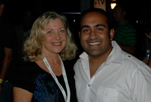 Linda Sherman and Rohit Bhargava at BlogWorld Expo Opening Party
