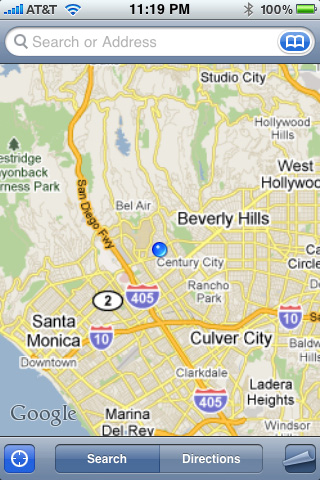 gps iphone sample screenshot