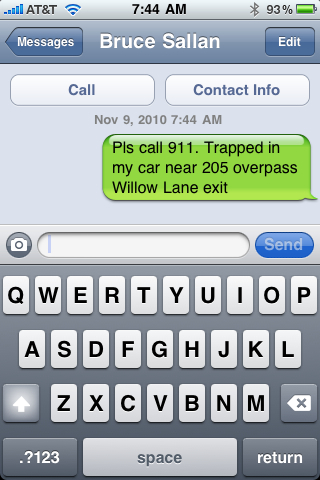 text for help sample screenshot - iPhone