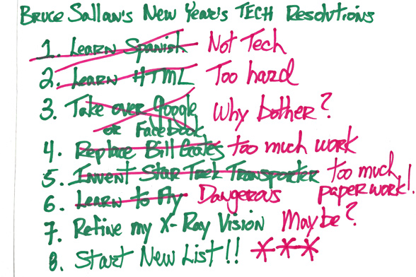 My New Year's Tech Resolutions