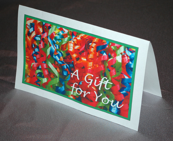 printable gift card image folded