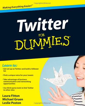 twitter for dummies by laura fitton - book cover