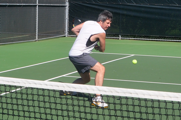 ray gordon playing tennis for boomer tech talk