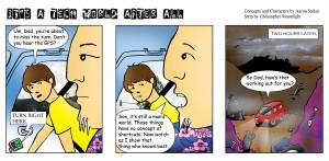 Tech World comic about GPS