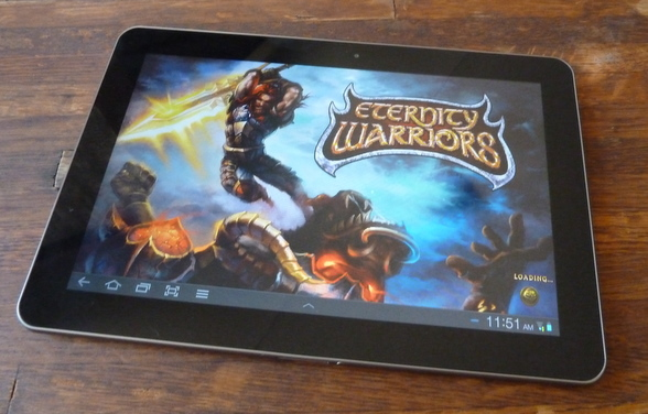 Video game displayed on the Samsung Galaxy Tab 10.1