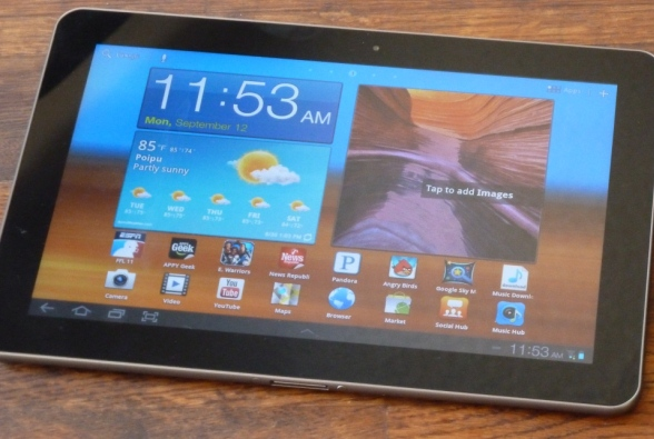 samsung galaxy vs the competition galaxy tab 10 1 android tablet review. Black Bedroom Furniture Sets. Home Design Ideas