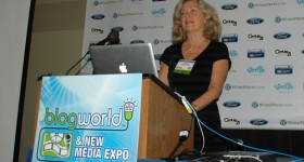 Linda Sherman Speaking at BlogWorld NYC 2011