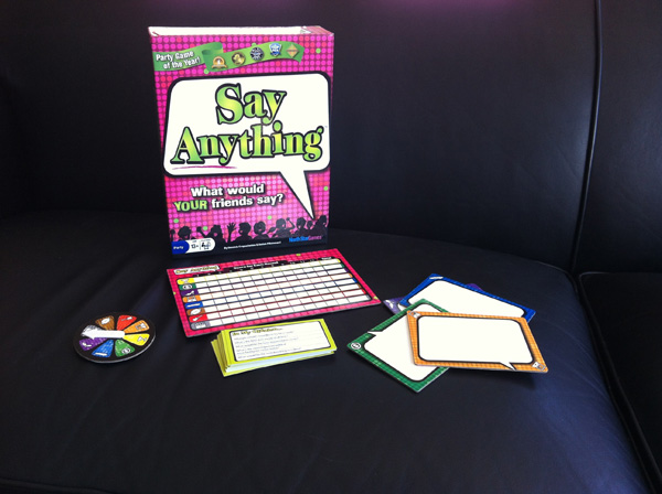 Say Anything Game Pieces photo by Linda Sherman