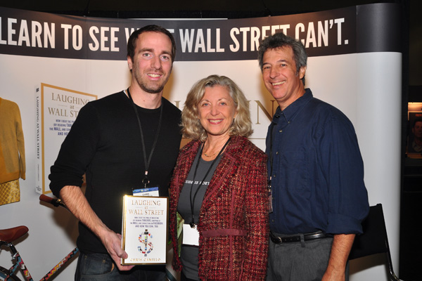 Laughing at Wall Street author with Linda Sherman and Ray Gordon