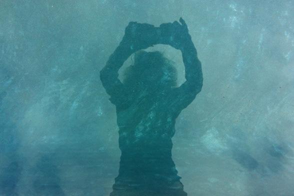 lifeproof selfie in pool