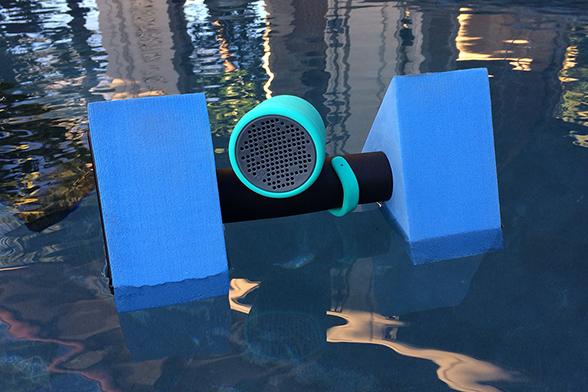Boom Swimmer on pool float by Linda Sherman