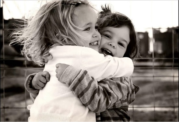unattributable photo of two girls hugging