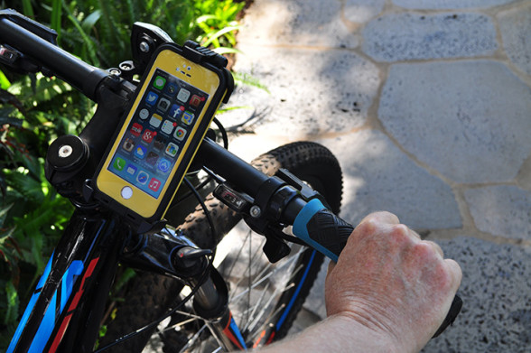 LifeProof bike mount with the Fre case.