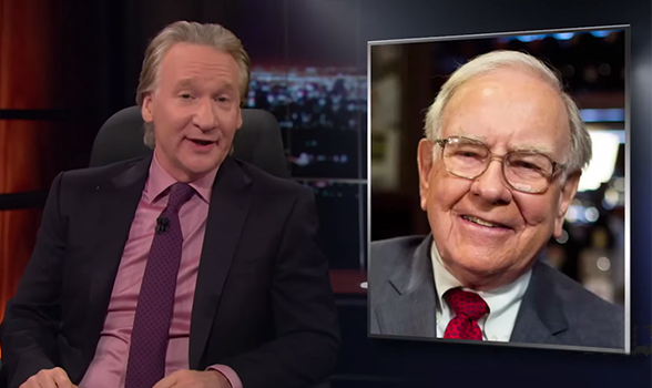 Bill Maher shows Warren Buffet's value at 80 plus