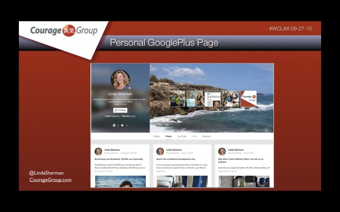 Google Plus Personal Page Linda Sherman