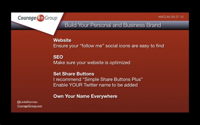 online personal brand tips