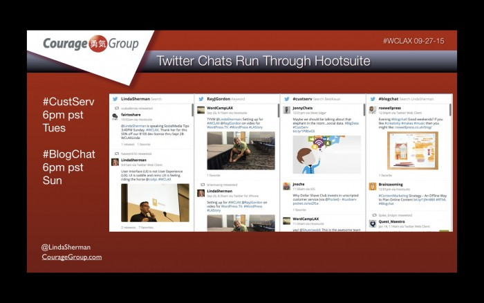 twitter chats on Hootsuite
