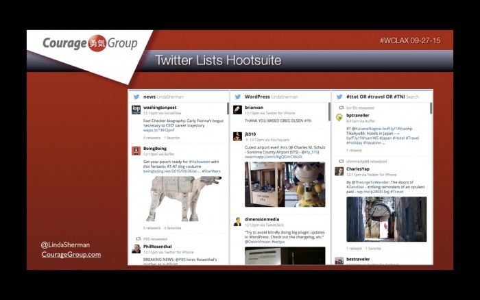 twitter lists on Hootsuite