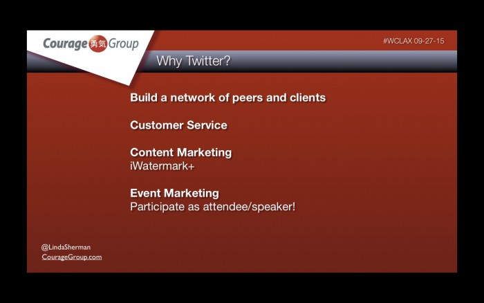 Why Twitter - Linda Sherman presentation