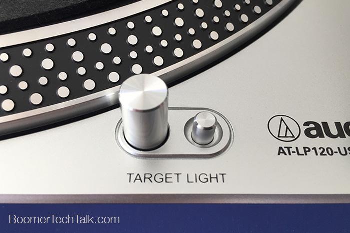 Audio-Technica AT-LP120 USB Turntable target light