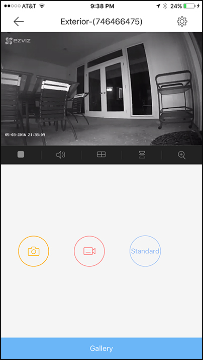 EZVIZ Camera Screen surveillance camera app
