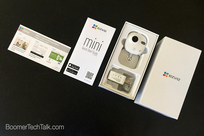 EZVIZ Mini package contents, wireless home security camera