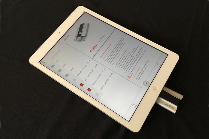 SanDisk iXpand Flash Drive iPad main screen