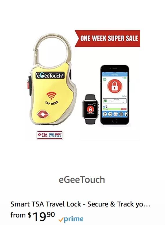 EgeeTouch TSA Lock on Amazon