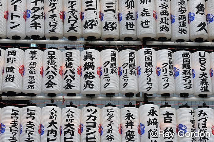 Tokyo Temple Lanterns by Ray Gordon
