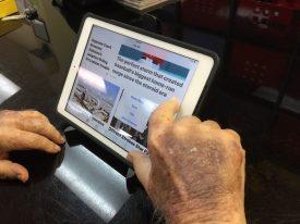 Apple News on an iPad. Photo by Linda Sherman
