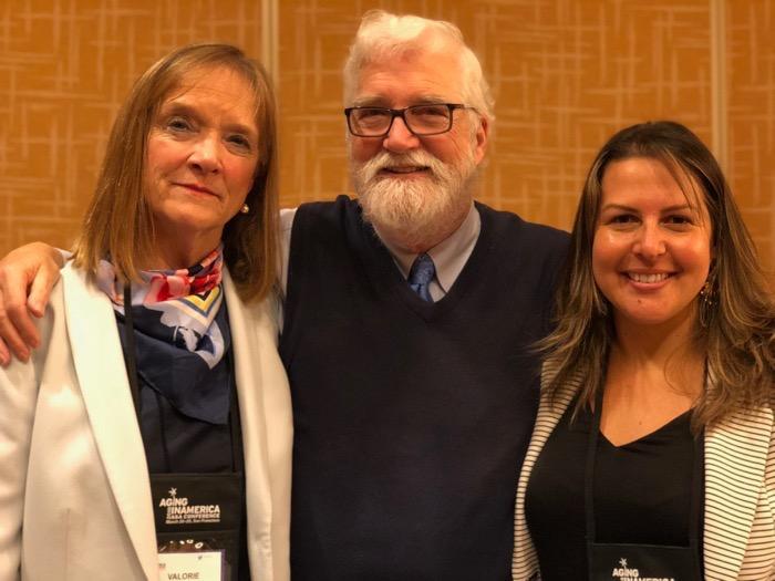 Valorie Villela, Director, 30th Street Senior Center; Patrick Arbore EdD and Cathy