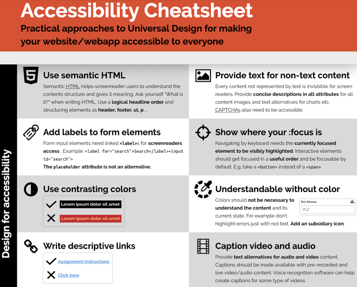 Accessibility Tips part 1