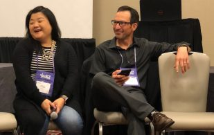 Ginna Baik and Scott Peifer AiA19 Tech Peer Group Hosts